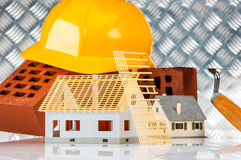 Building concept with construction site stuff Royalty Free Stock Images