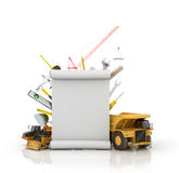 Building concept with construction tools Royalty Free Stock Photos