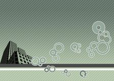 Building concept desktop. Abstract Building Concept- Illustration stock illustration