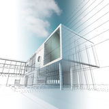 Building concept drawing Royalty Free Stock Photo