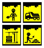 Building concept icons Stock Image