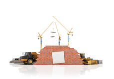 Building concept on a white background. Royalty Free Stock Photography