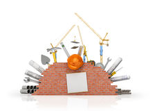 Building concept on a white background. Stock Image