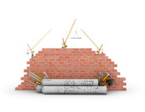 Building concept on a white background. Royalty Free Stock Image