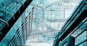 Building conceptual. Conceptual architectural plan; abstract buildings conceptual Stock Photography