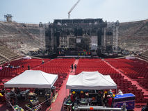 Building a concert stage Stock Images