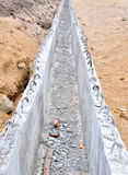 Building of concrete channel. Closeup stock image