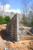 Building Concrete Foundation Stock Photos