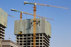 Building Concrete Structure And Crane Royalty Free Stock Photo