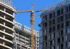 Building Concrete Structure And Crane Stock Photos
