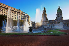 Building of Congress in Buenos Aires,. Building of Congress and the fountain in Buenos Aires, Argentina Stock Photography