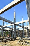 Building construct site and blue sky Stock Photo