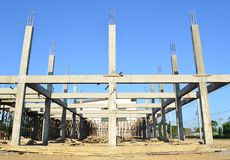 Building construct site and blue sky Stock Image