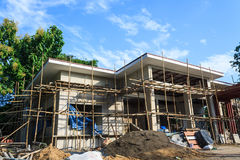 Building construct site. Building construct office in the construct site Royalty Free Stock Photography