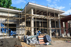 Building construct site. Building construct office in the construct site Royalty Free Stock Photos