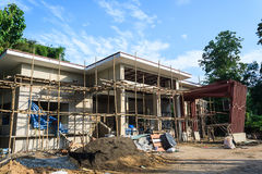 Building construct site. Building construct office in the construct site Royalty Free Stock Images