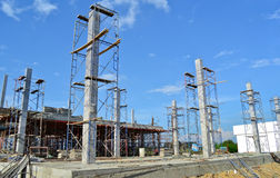 Building construct site of thailand. Southeast Royalty Free Stock Photography