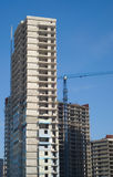 Building construction. Some tall buildings under construction Stock Photos
