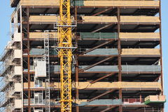 Building construction. Multilevel or multistory building under construction royalty free stock photography
