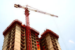 Building Construction. Buildings being build at the construction site Royalty Free Stock Image