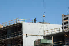 Building Construction. Construction of Highrise Building stock image