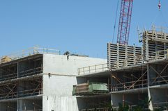 Building Construction. Construction of Highrise Building Royalty Free Stock Photography