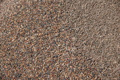 Building construction on the accumulation of sand and gravel. Quartz, feldspar and other debris accounted for more than 50% of the sedimentary clastics Royalty Free Stock Photo