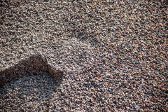 Building construction on the accumulation of sand and gravel Royalty Free Stock Image
