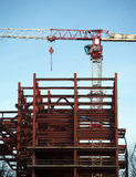 Building construction activity in process Royalty Free Stock Photo
