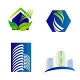 Building construction architecture company logo set Stock Photography