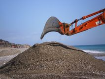 Building. Construction backhoe louder royalty free stock photography