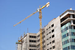 Building Construction. In Bangalore, India Royalty Free Stock Images