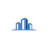 Building construction city logo Royalty Free Stock Image