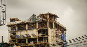 Building construction with cloudy sky as background photo taken in jakarta Indonesia Stock Photography