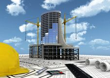 Building Construction Concept Royalty Free Stock Images