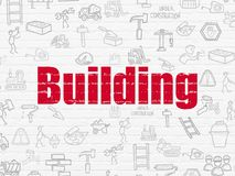 Building construction concept: Building on wall background Imagenes de archivo