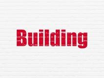 Building construction concept: Building on wall background Fotos de archivo