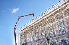 Building in construction stock photos