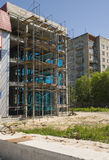 Building construction. Concrete slabs Stock Image