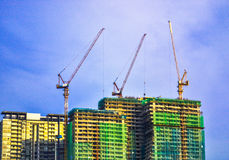 Building construction with crane. Building construction with crane, construction site construction, building, engineering Royalty Free Stock Photo