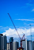 Building construction with crane. Building construction with crane, construction site construction, building, engineering Stock Images