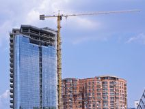 Building construction. Cranes and building of construction Royalty Free Stock Image