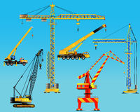 Building construction cranes set. Vector Royalty Free Stock Photography