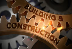 Building And Construction. 3D. Royalty Free Stock Image