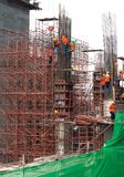 Building construction engineering. stock photo