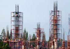 Building construction engineering royalty free stock photo