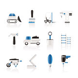 Building and Construction equipment icons. Vector Icon Set Stock Photo