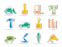 Building and Construction equipment icons Stock Image