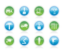 Building and Construction equipment icons Royalty Free Stock Image