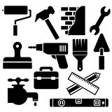 Building, construction and home repair tools Stock Photo